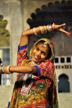 Danseuse au Bagor ki haveli d'Udaipur