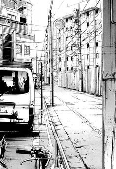 気 urban drawing Urban Architecture, Architecture Drawings, Art And Illustration, Yuumei Art, Anime Body, Anime Pokemon, Graphic Novel Art, Perspective Drawing, Point Perspective
