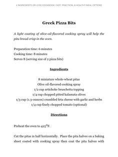 Greek pizza bits part 1