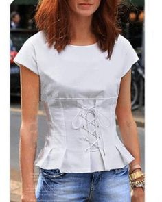 e222449bf6f 26 Best Deep v neck lace up t shirt for women images