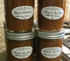 Home Canned Peach Butter | Looks delicious! A bit out of my experience range though, saving for later!