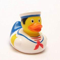 Canard de matelot gummiente, canard de bain lanco canard bruit figurine caoutchouc jouets de bain, liLaLu 1988;