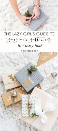 Looking for easy gift wrapping ideas? These simple ideas for holiday gift wrap will make your Christmas presents gorgeous in no time. #christmasgifts #christmaswrapping #christmasdecorations #giftwrapping