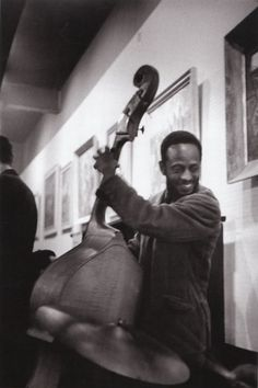 Percy Heath at the Coffee Gallery, San Francisco, 1960.