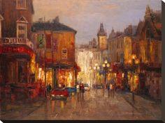 parisian night scene by borsuk