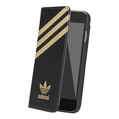 adidas Originals (アディダス オリジナルス) iPhone6/iPhone6s カードポケット付 手帳型ケース 19091 (ブラック/ゴールド)