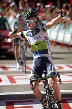 Simon Clarke (Orica-GreenEdge) wins in the 2012 Vuelta a Espana
