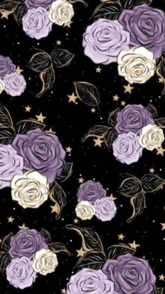 Phone Wallpapers, Cute Wallpapers, Wallpaper Backgrounds, Pretty Phone Wallpaper, Purple Wallpaper, Valentine Background, Cabochons, Overlays, Floral Prints