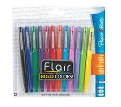 #2 your favorite school supply - Paper Mate Flair Point-Guard Porous Point Pens, 12 Colored Pens - Perfect for grading papers! #teacherschangelives