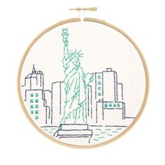 This charming, small embroidery kit of New York City's Statue of Liberty is part of my East Coast series. If you have East Coast pride, now you can show it off with a stitched landmark you love. This