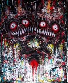 horror abstract art - Buscar con Google