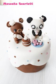 kawaii bear and panda