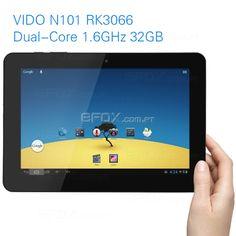 """[Envios da Espanha]VIDO N101 II Android 4.1 RK3066 Dual-Core 1.6GHz 10.1"""" 1280*800 IPS 32GB 3G WIFI Câmara Dupla-Tablet PC  €165.99"""