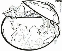 Omalovánka Země, odpadní kontejner