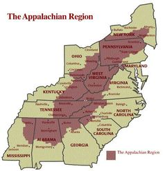 Note that West Virginia is the ONLY state in the entire region that is included completely. Us History, History Facts, Family History, American History, History Medieval, History Quotes, History Timeline, History Education, Design History