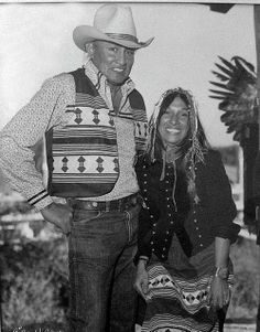 Will Sampson & Buffy Sainte Marie, 1980 In South Florida in the everglades at the Miccosukee Tribe Annual Arts & Craft Festival of Florida when they performed together.