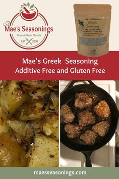 Mae's Greek Seasoning is a great all–purpose seasoning. Our Greek seasoning is great on roasted potatoes and chicken. This Greek seasoning is a blend of spices including oregano, garlic and rosemary to name a few. Also has a hint of lemon, salt and pepper. When you are preparing your favourite greek dish, you can't go wrong using our Greek seasoning so eliminate the guesswork and choose Mae's! Our spice combinations are made with no artificial preservatives. Lamb Recipes, Greek Recipes, Healthy Recipes, Greek Stuffed Peppers, Spice Combinations, All Purpose Seasoning, Greek Seasoning, Natural Spice, Marinated Steak