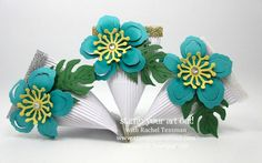 Fun ways to use the same pieces (4x3 corrugated paper, 2016 Sale-A-Bration Glitter Tape, & Botanical Builder die-cut flower pieces) to create cards, pages and cute candy containers…#stampyourartout #stampinup - Stampin' Up!® - Stamp Your Art Out! www.stampyourartout.com