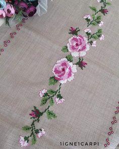 🌸🌸eta igneoya of my # # # igneoyasıhavl the tapestry is crosstich # # # crosstich needlepoint . Butterfly Cross Stitch, Cross Stitch Borders, Cross Stitch Rose, Cross Stitch Flowers, Cross Stitch Charts, Cross Stitching, Crewel Embroidery, Cross Stitch Embroidery, Embroidery Patterns