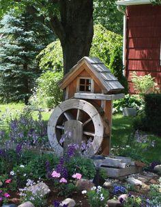 Water Wheels for Ponds Outdoor Projects, Garden Projects, Outdoor Decor, Water Pond, Water Garden, Water Irrigation, Diy Garden Fountains, Landscape Curbing, Pond Design