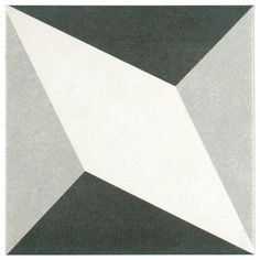 SomerTile 7.75x7.75-in Thirties Diamond Ceramic Floor and Wall Tile (Case of 25)