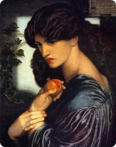 Messalina (Jane Morris painted by Dante Gabriel Rossetti as Proserpine (1874). )