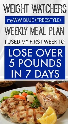 If you are on Weight Watchers and chose the Blue Plan (Freestyle), here are 7 days filled with meals, recipes, snacks and desserts that I used and lost 6 Pounds in my first week effortlessly. I was never hungry and actually had to REMIND myself to eat. Weight Loss Meals, Weight Watchers Meal Plans, Best Weight Loss Foods, Healthy Food To Lose Weight, How To Lose Weight Fast, Lose Fat, Losing Weight, Weight Loss Tips, Stomach Fat Burning Foods