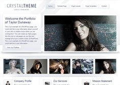 The professional portfolio framework of the Crystal theme focuses the spotlight directly on the image you want to project.