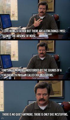 Ron Swanson on fatherhood.
