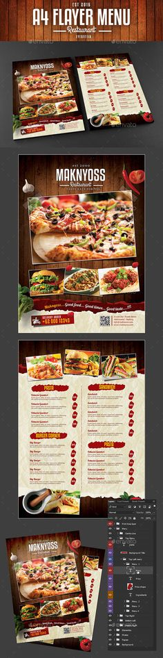 Jamaican Restaurant Menu Flyer Template  Jamaican Restaurant