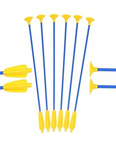 Crossbow Sucker Arrows Safe Archery Shooting Children Kids Gift Home Outdoor Sports Blue Yellow Practice Game Cross Bow Arrows For Sale, Hunting Arrows, Carbon Arrows, Wooden Arrows, Crossbow, Plein Air, Archery, Blue Yellow, Gifts For Kids