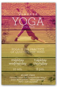 yoga flyer ideas - Pesquisa Google