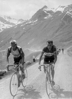 Bahamontes And Charly Gaul In The Giro D'Italia, 1956