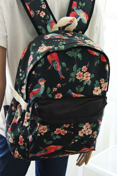 Shoulder bag Korean version of the new wave of cool canvas bag backpack schoolbag A201-ZZKKO