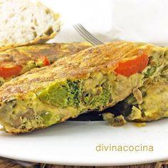 Tortilla de verdura rápida < Divina Cocina
