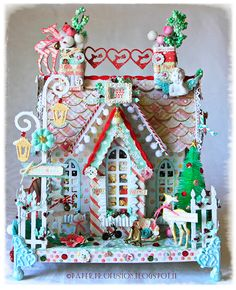 Gorgeous gingerbread house winning project by Paper Profusion using Sweet Peppermint!