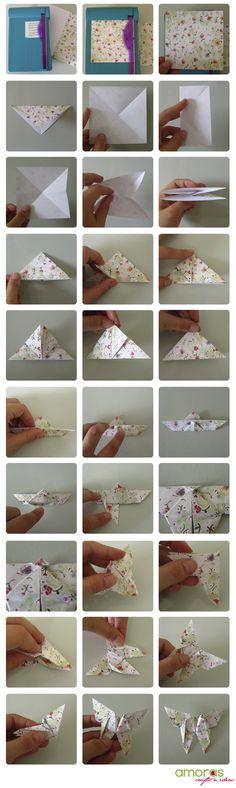 Akira Yoshizawa's butterfly origami. http://blog.sanriotown.com/gigistone:hellokitty.com/files/2007/12/butterfly-yoshizawa.pdf