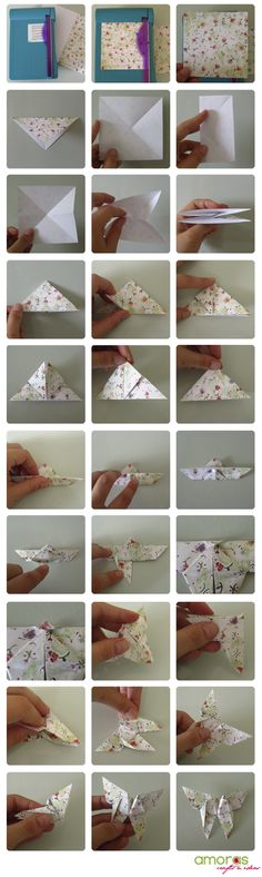 Akira Yoshizawa's butterfly origami. I want to make these and put them all over my room :)