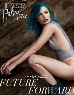MAC Future Forward Spring 2016 Collection Featuring Tinashe, Halsey, Dej Loaf and Lion Babe. Mac's latest makeup collection takes it's inspiration from four rising black musical artists… Halsey, Black Hair Inspiration, Grey Lipstick, Lipstick Mac, Babe, Shave My Head, Kristina Bazan, Lilac Sky, Tinashe