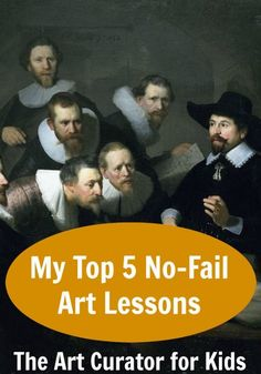 The Art Curator for Kids - My Top 5 No-Fail Art Lessons - these art lessons for high school and middle school are so fun! Your students will love them!