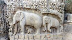 Arjuna's Penance, Mahabalipuram , Tamil Nadu, India