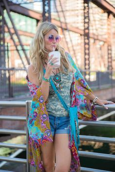 Revival of the 70-s! Don't you just love that bohemian festival style with all its colors and prints! Hoping for a never ending summer!