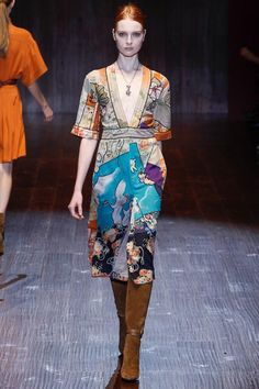 Gucci Spring 2015 Ready-to-Wear - Collection - Gallery - Look 22 - Style.com... stained glass patchwork dress