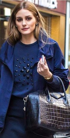 -Love the Blues - Street Chic -  Olivia Palermo. <3