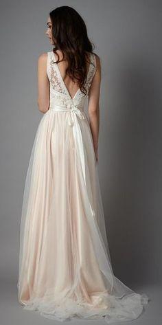 Wedding dress idea; Featured Dress: Catherine Deane