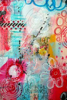 The Kathryn Wheel: Messy messy art journaling!