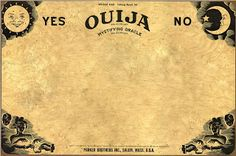 Ouija template to make invitations