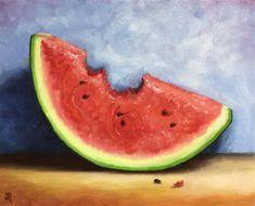 "Daily Paintworks - ""Watermelon bite"" - Original Fine Art for Sale - © Jane Palmer"