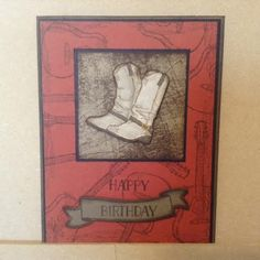 Created from Stampin Up Country Livin stamp set.  Happy Birthday is from Tin of Cards and banner is from Bunch of Banners framelits.
