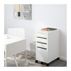 MICKE Drawer unit/drop file storage, white white 13 3/4x29 1/2  IKEA